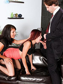 Leah And Liv In Nasty Threesome